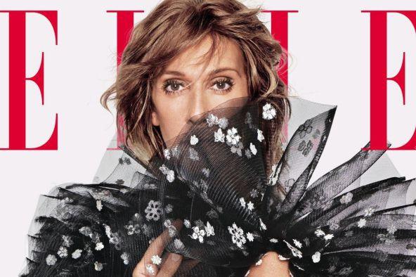 CélineDion en couverture du magazine Elle américain... (PHOTO TOMMUNRO, FOURNIE PAR ELLE)