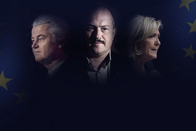 Geert Wilders, Marian Kotleba et Marine Le Pen,... (PHOTOMONTAGE LA PRESSE)