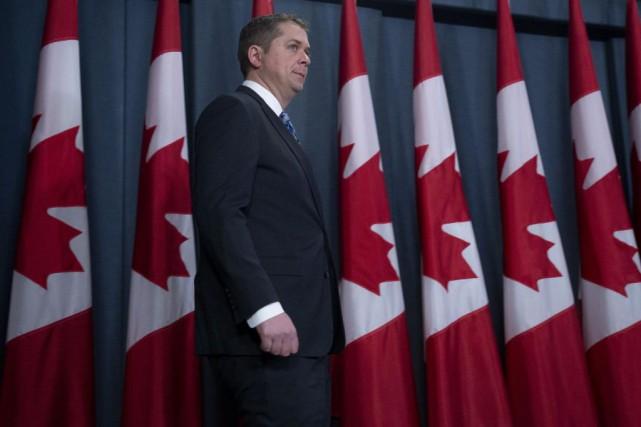 L'objectif des discours qu'Andrew Scheer prononcera dans les... (PHOTO ADRIAN WYLD, ARCHIVES LA PRESSE CANADIENNE)