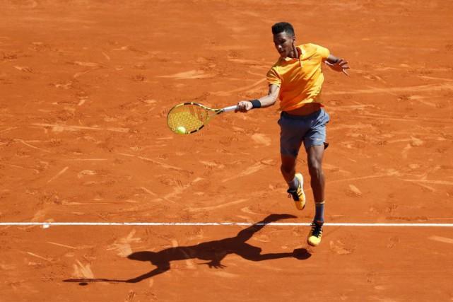 FélixAuger-Aliassime, lors du tournoi de Monte-Carlo, le 17avril... (PHOTOERIC GAILLARD, ARCHIVES REUTERS)