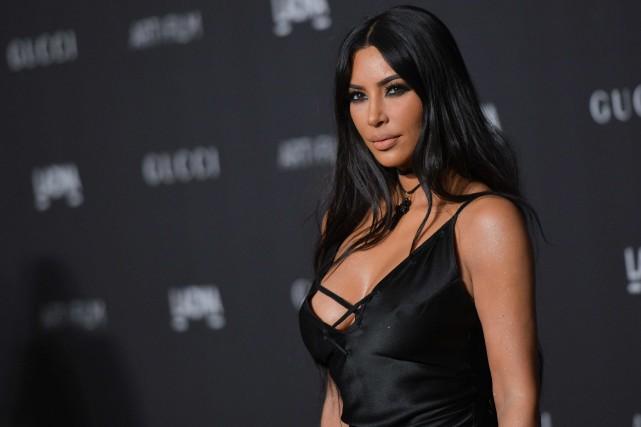 Kim Kardashian a annoncé sur Twitter la naissance... (PHOTO CHRIS DELMAS, ARCHIVES AFP)