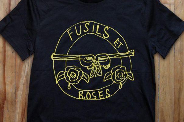 Les Roches qui roulent proposent de cocasses t-shirts.... (PHOTO TIRÉE DE LA PAGE ETSY DES ROCHES QUI ROULENT)