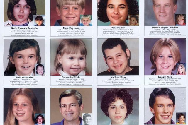 Affiche d'enfants disparus du Réseau Enfants-Retour... (PHOTO RÉSEAU ENFANTS-RETOUR)
