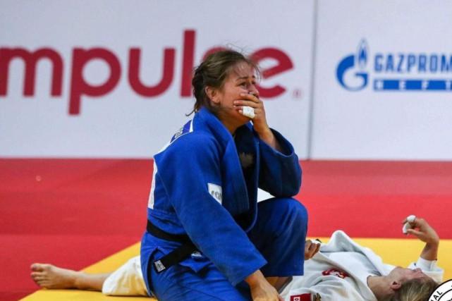 Éprouvée par l'AVC subi par son père, qu'elle a vécu à distance, la judoka... (PHOTO FOURNIE PAR CATHERINE BEAUCHEMIN-PINARD)