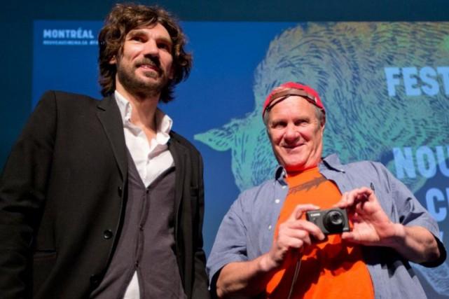 Nicolas Girard Deltruc et Claude Chamberlan au dévoilement... (PHOTO PATRICK SANFAÇON, ARCHIVES LA PRESSE)