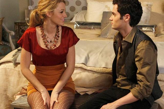 Blake Lively etPenn Badgley dans la série Gossip... (PHOTO FOURNIE PARWARNER BROS.)