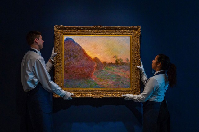 La toile de 72 cm sur 92 fait partie... (PHOTO ASSOCIATED PRESS/SOTHEBY'S)