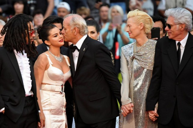 Les comédiens Luka Sabbat, Selena Gomez, Bill Murray... (PHOTO LOIC VENANCE, AGENCE FRANCE-PRESSE)