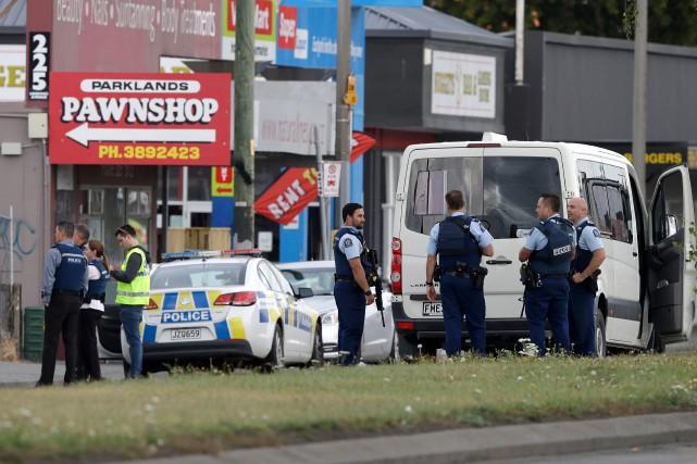 L'attentat contre la mosquée néo-zélandaise de Christchurch, au... (PHOTO MARK BAKER, ARCHIVES AP)
