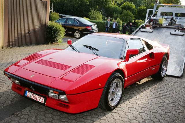 La Ferrari 288 GTO de collection a été... (PHOTO DIETER STANIEK, AFP)