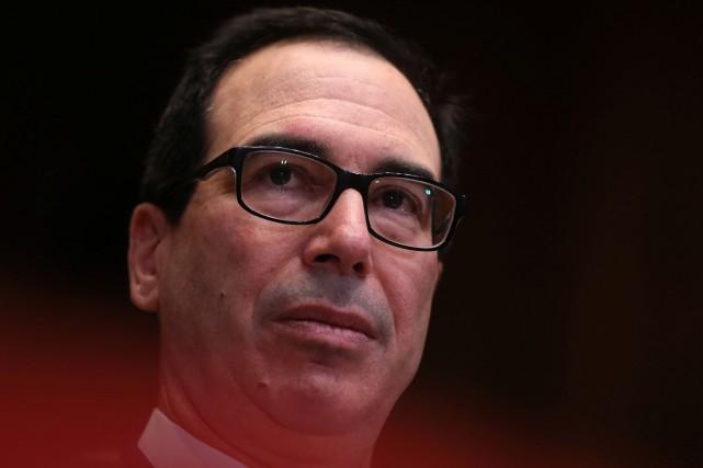 Le secrétaire américain au Trésor, Steven Mnuchin, a... (PHOTO JONATHAN ERNST, REUTERS)