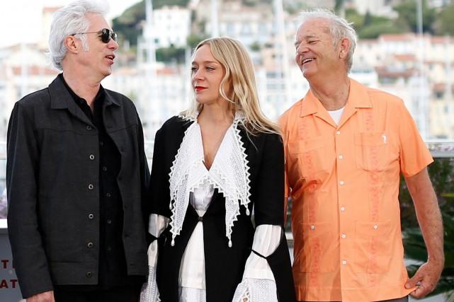 Jim Jarmusch, Chloe Sevigny et Bill Murray ont... (PHOTO STEPHANE MAHE, REUTERS)