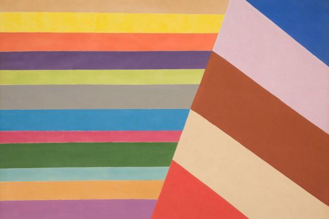 Across and Down, 1966, Jack Hamilton Bush, peinture... (PHOTO FOURNIE PAR HEFFEL)