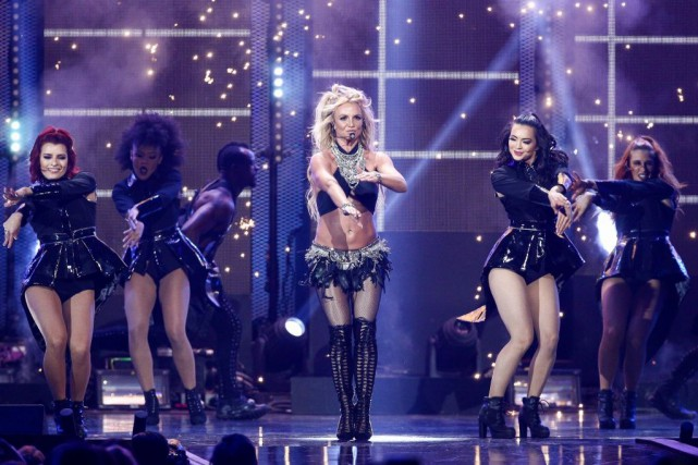 Britney Spears en spectacle à Las Vegas, en... (PHOTO ARCHIVES ASSOCIATED PRESS)