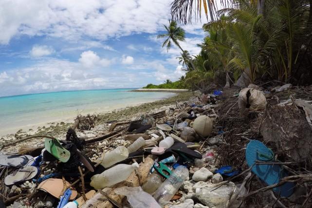 Des centaines de millions de fragments de plastique sont échoués sur un... (PHOTO SILKE STRUCKENBROCK, AGENCE FRANCE-PRESSE)