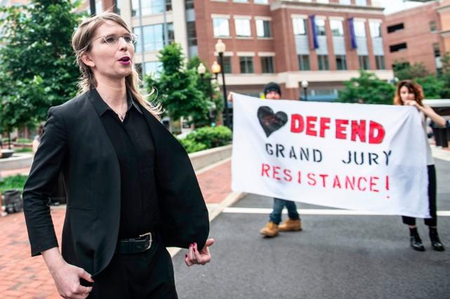 Chelsea Manning a été libérée il y a... (PHOTO AFP)