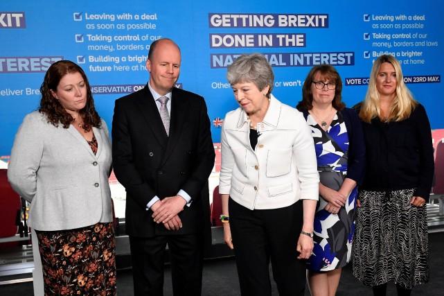 La première ministre Theresa May a participé à... (PHOTO TOBY MELVILLE, AGENCE FRANCE-PRESSE)