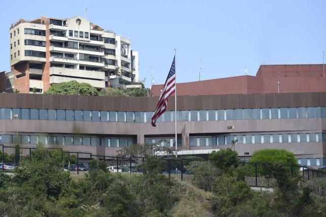L'ambassade des États-Unis au Venezuela est perchée sur... (PHOTO JUAN BARRETO, ARCHIVES AGENCE FRANCE-PRESSE)