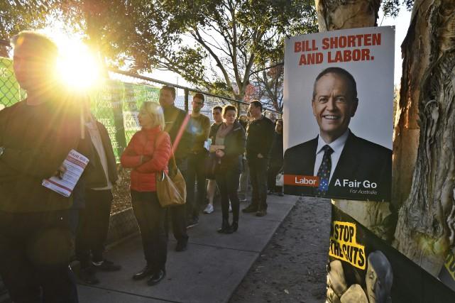 L'opposition travailliste est donnée favorite par les derniers... (PHOTO WILLIAM WEST, AFP)