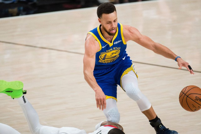 Les Warriors de Golden State n'ont plus besoin que d'une victoire pour disputer... (PHOTO TROY WAYRYNEN, USA TODAY SPORTS)