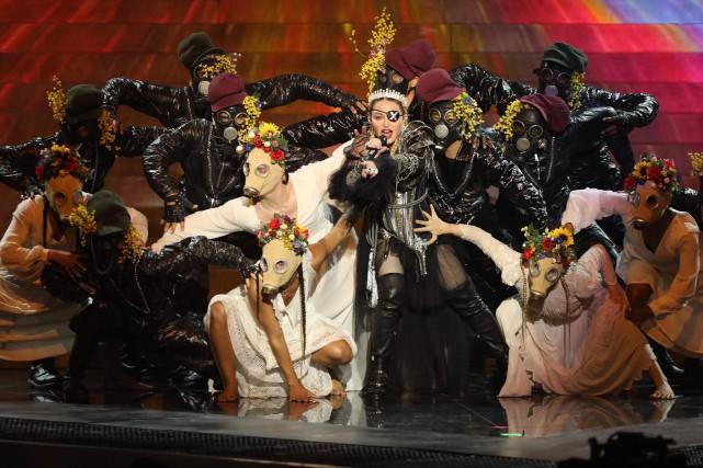 Madonna a interprété deux chansons lors de la... (PHOTO ORIT PNINI, KAN VIA AGENCE FRANCE-PRESSE)