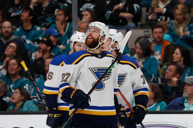 Derniers au classement général de la LNH tôt en janvier, les Blues de St. Louis... (PHOTO JOSIE LEPE, AP)