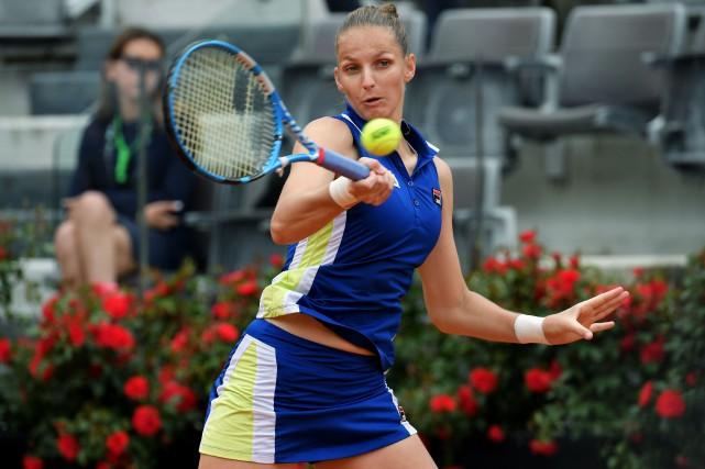 Karolina Pliskova a fait un bond de cinq... (PHOTO TIZIANA FABI, AGENCE FRANCE-PRESSE)