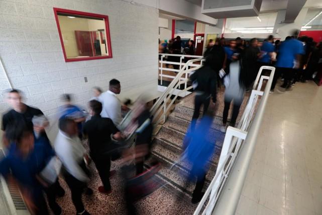 À Calixa-Lavallée, où 40% des jeunes ont des... (PHOTO MARTIN CHAMBERLAND, LA PRESSE)