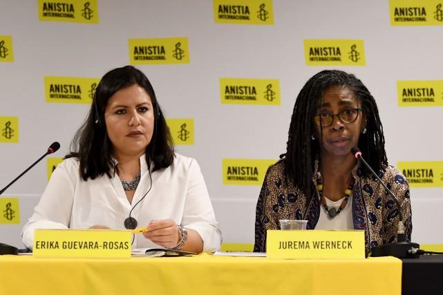 Erika Guevara-Rosas, directrice d'Amnistie Internationale pour les Amériques... (PHOTO AFP)