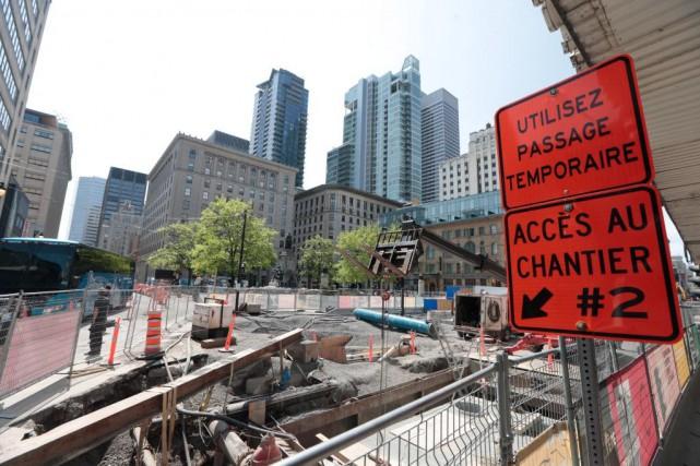 Une place publique temporaire verra le jour à... (PHOTO MARTIN CHAMBERLAND, LA PRESSE)