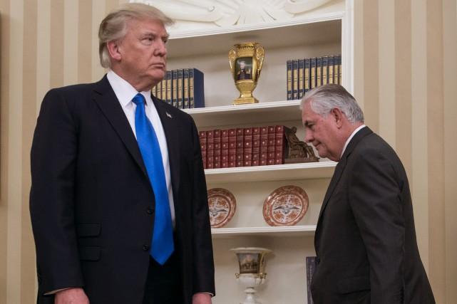 Rex Tillerson est resté relativement discret depuis son... (PHOTO AFP)