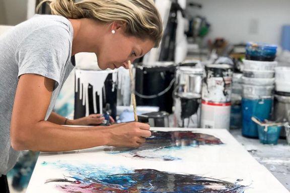 L'artiste peintre Fanny Rice a réalisé l'étiquette de... (PHOTO FOURNIE PAR L'ARTISTE)