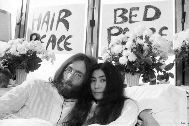 Du 26mai au 2juin1969, John Lennon et Yoko... (PHOTO YVES BEAUCHAMP, ARCHIVES LA PRESSE)