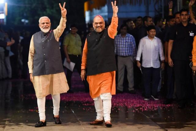 À New Delhi, le premier ministre indien Narendra... (PHOTO MONEY SHARMA, AGENCE FRANCE-PRESSE)