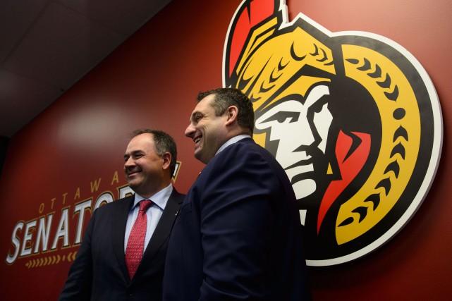 Le directeur général des Sénateurs d'Ottawa, Pierre Dorion... (PHOTO SEAN KILPATRICK, LA PRESSE CANADIENNE)
