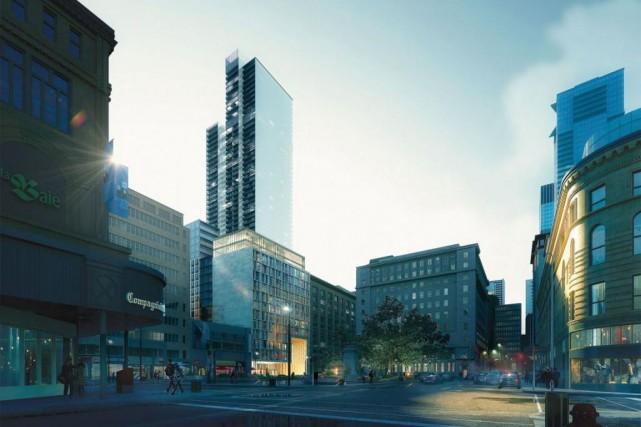 Une nouvelle tour de 61étages aucentre-ville de Montréal