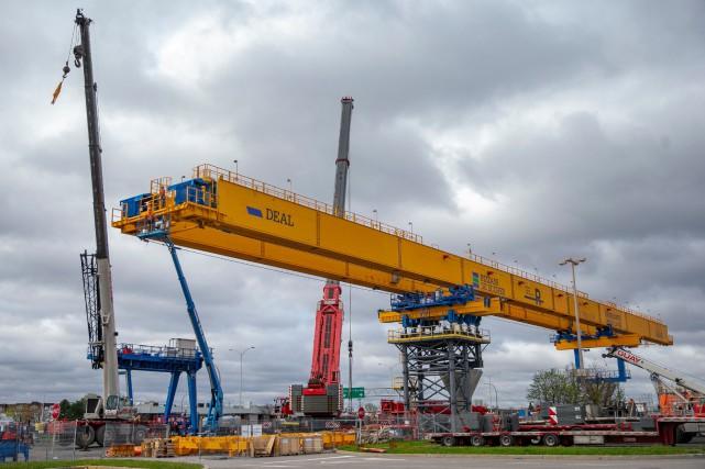 Le chantier du REM à la future station... (PHOTO DAVID BOILY, ARCHIVES LA PRESSE)