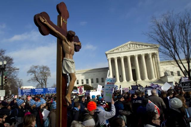La droite religieuse anti-avortement est galvanisée par l'arrivée... (PHOTO AP)