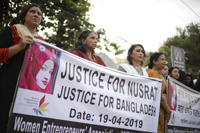 La mort de Nusrat Jahan Rafi le mois... (PHOTO MAHMUD HOSSAIN OPU, AP)