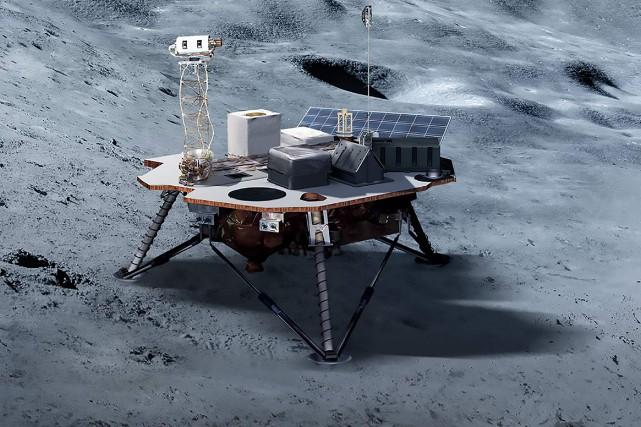 L'agence spatiale américaine a sélectionné trois alunisseurs, développés... (PHOTO AGENCE FRANCE-PRESSE/NASA)