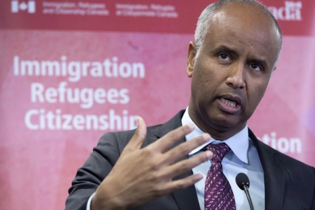 Le ministre Ahmed Hussen a fait valoir vendredi... (PHOTO FRANK GUNN, LA PRESSE CANADIENNE)