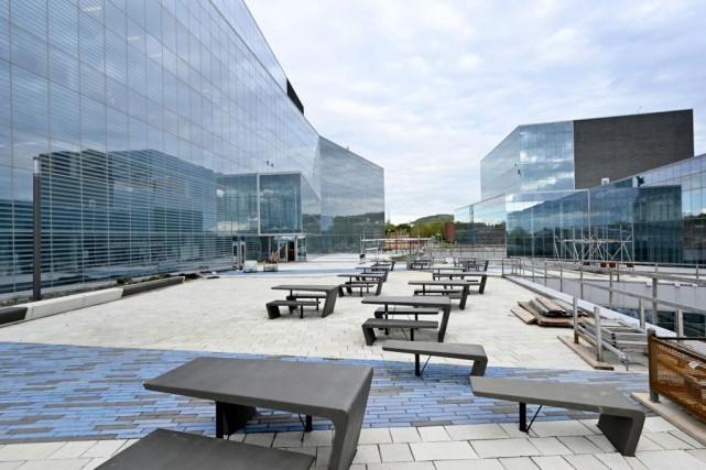 Le nouveau campus MIL de l'Université de Montréal,... (PHOTO BERNARDBRAULT, LA PRESSE)