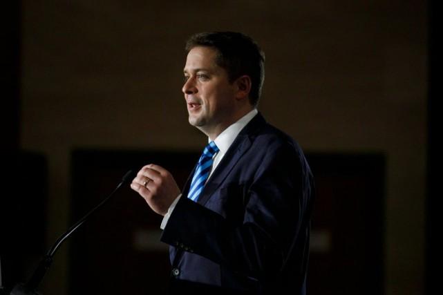 Andrew Scheer, chef duParti conservateur du Canada... (PHOTOCOLE BURSTON, ARCHIVES LA PRESSE CANADIENNE)