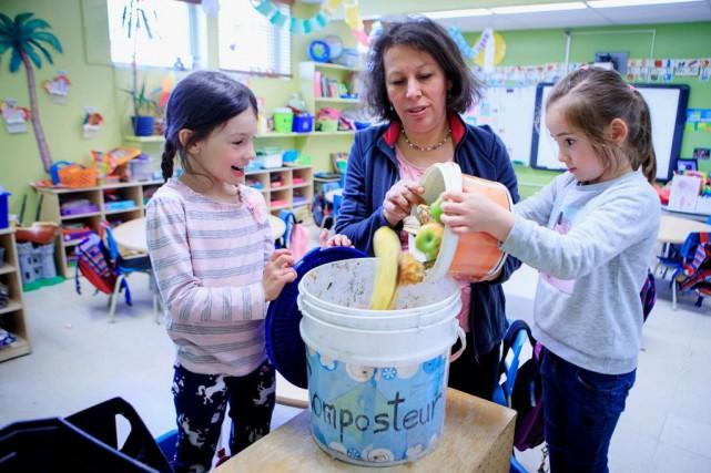 L'enseignante Francine Flores a implanté un système de... (PHOTO ALAIN ROBERGE, LA PRESSE)