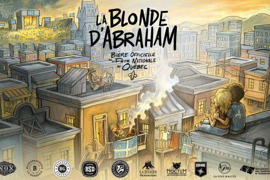 La Blonde d'Abraham a été élaborée avec des... (ILLUSTRATION FOURNIE PAR LE MOUVEMENT NATIONAL DES QUÉBÉCOISES ET DES QUÉBÉCOIS)