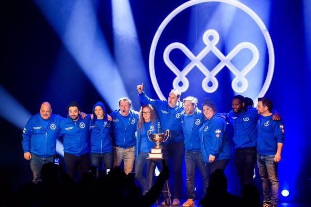 L'Équipe nationale de stand-up du Québec: Sylvain Larocque,... (PHOTO HUGO-SÉBASTIEN AUBERT, LA PRESSE)
