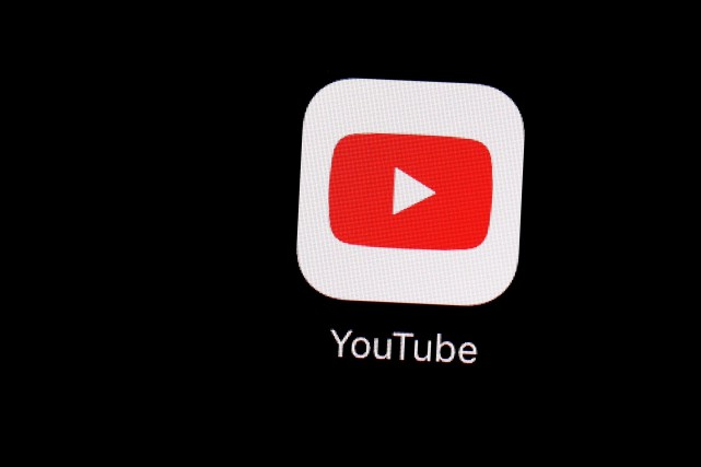 The YouTube app on an iPad in Baltimore... (PHOTO PATRICK SEMANSKY, THE ASSOCIATED PRESS)