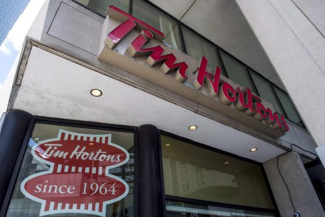 A Tim Hortons coffee shop in downtown Toronto,... (PHOTO EDUARDO LIMA, LA PRESSE CANADIENNE)