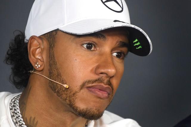 Le pilote de l'écurie Mercedes Lewis Hamilton... (PHOTO BERNARD BRAULT, LA PRESSE)