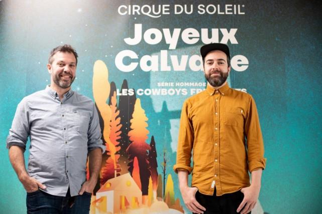 Jean-Guy Legault et Jean-Phi Goncalves proposentJoyeuxcalvaire.... (PHOTO DAVID BOILY, LA PRESSE)